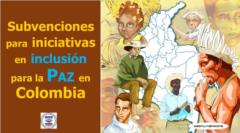 Apoyo a Iniciativas sobre Inclusión de Población Étnica para la Paz en Colombia