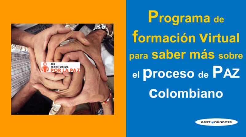 Programa de formación virtual sobre el proceso de paz colombiano