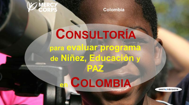 Contratación de Consultoría para Evaluación de Programa de Educación y Paz