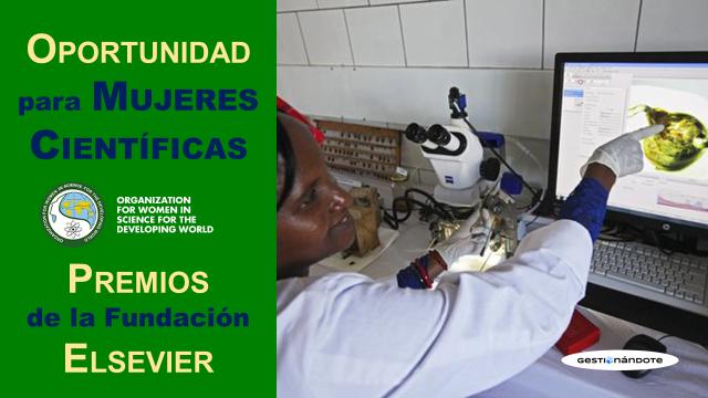 Premios Elsevier para promover carrera de mujeres científicas en países en desarrollo