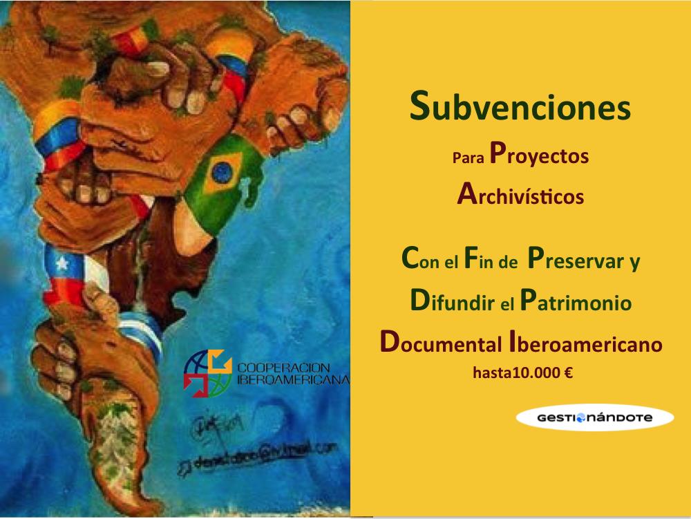 Financiamiento de proyectos sobre patrimonio documental – Hasta 10.000 euros