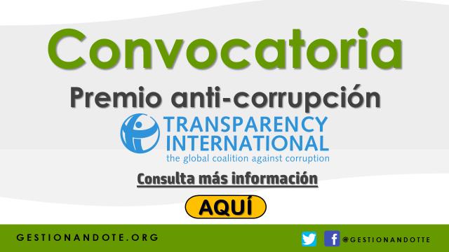 Transparencia Internacional: Nominaciones para premio anti-corrupción