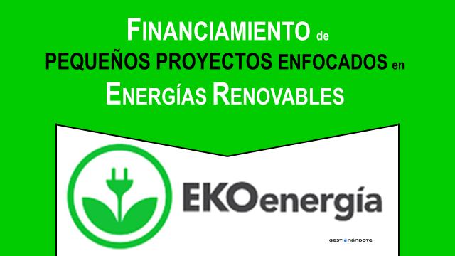 EKOenergía financia pequeños proyectos en energías renovables
