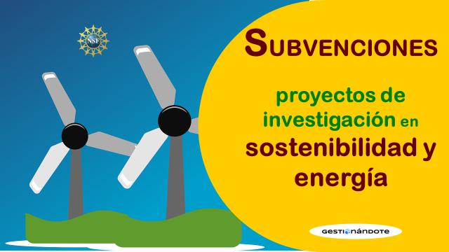 Financiamiento de proyectos de investigación en combustibles y energía – NFS