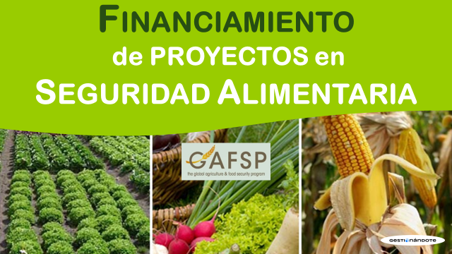 Financiamiento de proyectos en seguridad alimentaria – GASFP