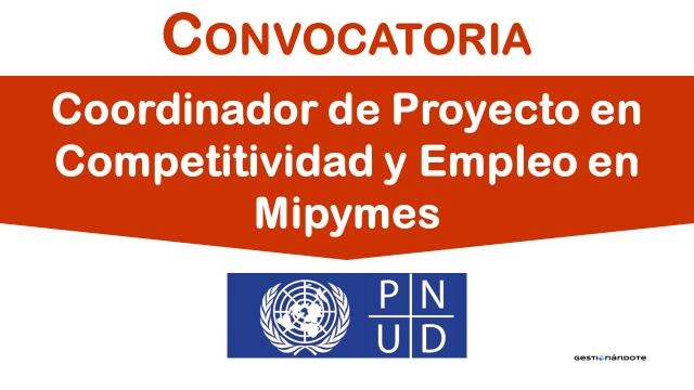 Oportunidad – Coordinador/a de Proyecto en tema Mipymes en El Salvador