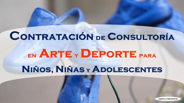 Contratación de consultoría en arte y deporte para niños, niñas y adolescentes – PNUD