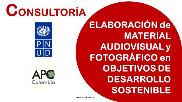 Consultoría para elaboración de material audiovisual y fotográfico en ODS