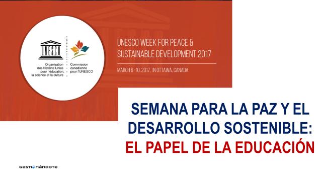 Semana UNESCO para la paz