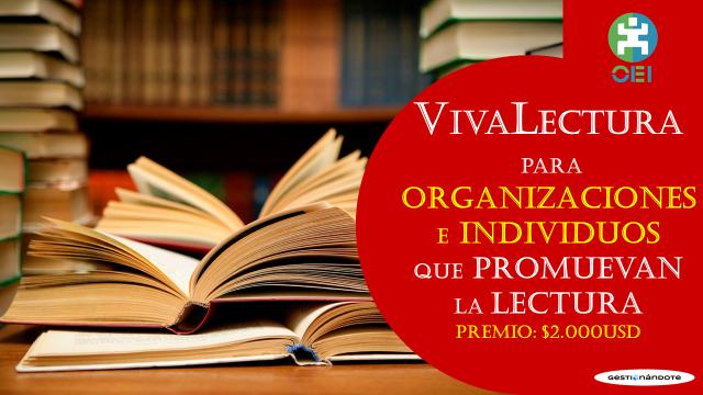 Concurso para organizaciones que promuevan la lectura  – VivaLectura