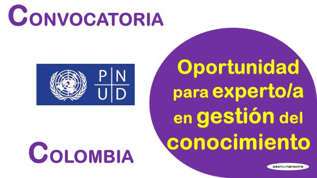 Oportunidad para experto en gestión del conocimiento en el PNUD