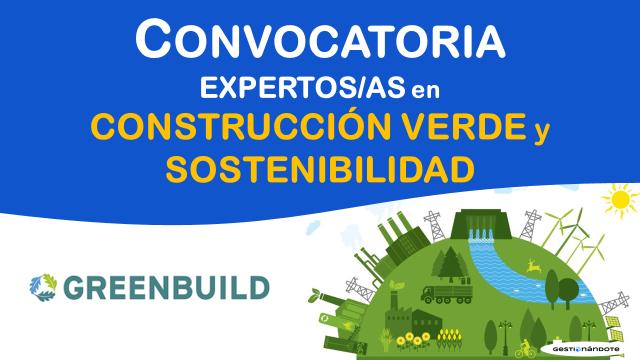 Convocatoria de Greenbuild para expertos/as en sostenibilidad