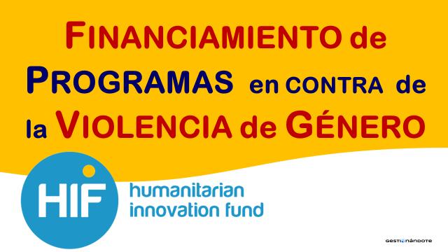 Financiamiento de programas contra la violencia de género – HIF