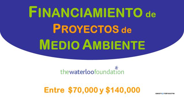 Waterloo financia iniciativas ambientales