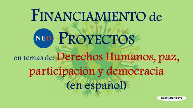 Subvenciones de la Fundación Nacional para la Democracia