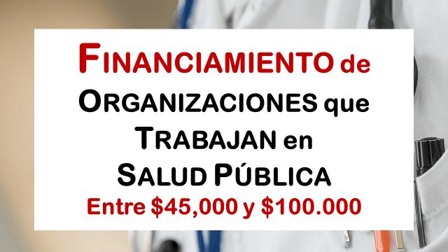 Financiamiento de organizaciones que trabajan en salud pública – IZUMI