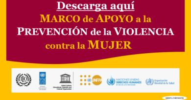 Descarga aquí el Marco de apoyo a la prevención de la violencia contra la mujer