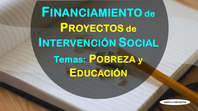 Financiamiento de proyectos de intervención social en áreas de pobreza y educación – Colunga