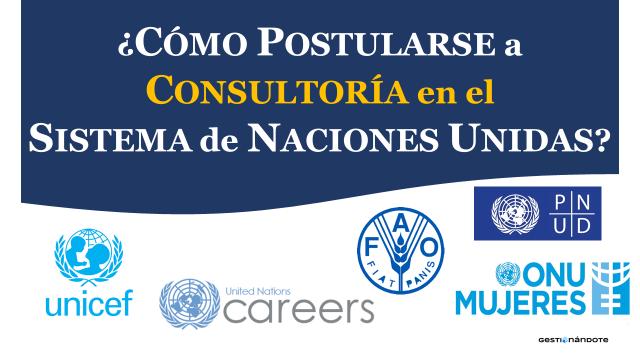 ¿Cómo postularse a consultoría en el Sistema de las Naciones Unidas?
