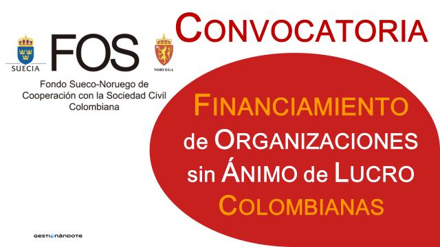 Fondo Sueco-Noruego financia proyectos de organizaciones sin ánimo de lucro colombianas