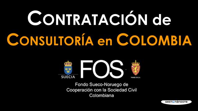 Fondo Sueco-Noruego contrata consultoría para capacitaciones a organizaciones colombianas