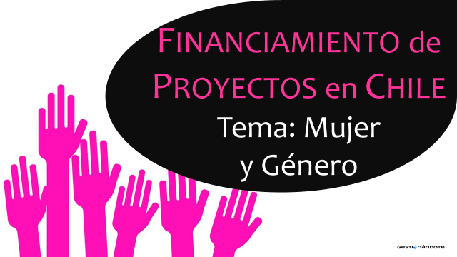 Financiamiento de proyectos en temas de mujer y género en Chile