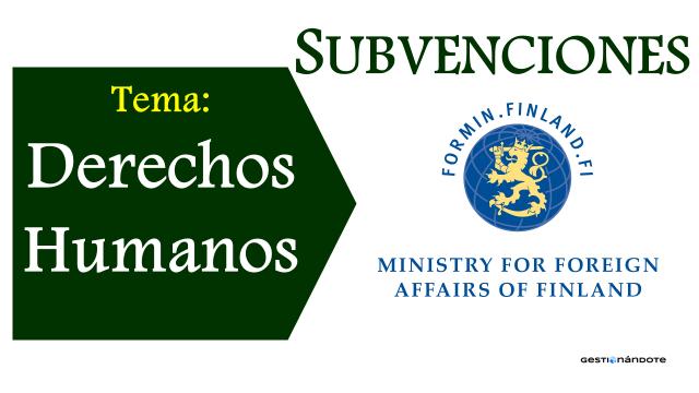 Gobierno de Finlandia financia proyectos en derechos humanos en todo el mundo