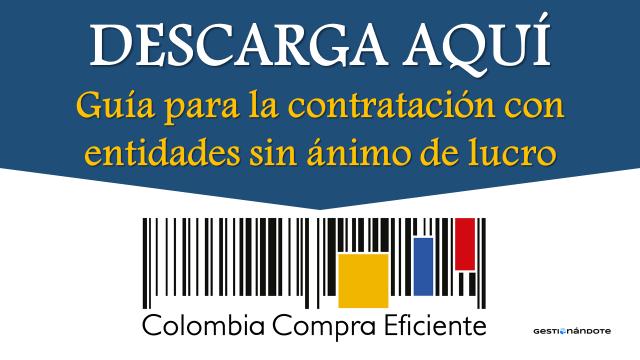 Guía para la contratación con Entidades sin Ánimo de Lucro en Colombia