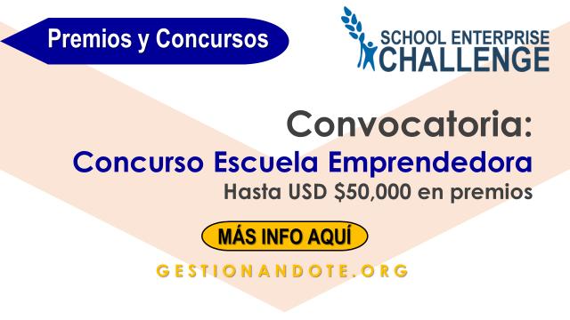 Premios hasta $50,000 para empresas escolares