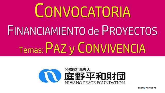 Organización japonesa financia proyectos en temas de paz y convivencia