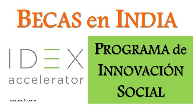 Becas para participar en programa de innovación social IDEX en India