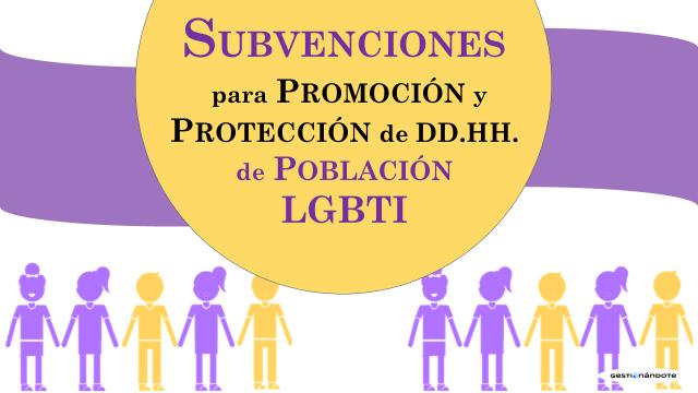 Subvenciones para la promoción y protección de los DD.HH. de población LGBTI