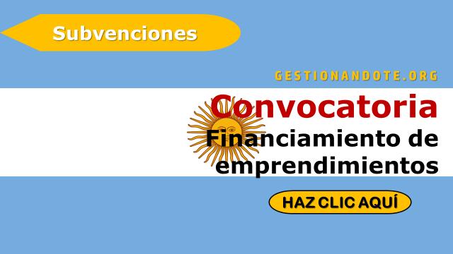 Convocatoria del gobierno argentino para financiar proyectos