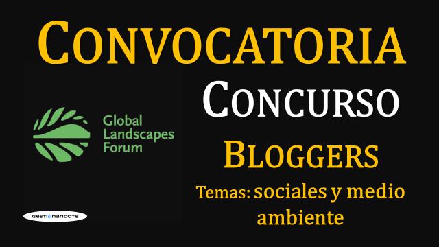 Concurso mundial de bloggers en temas sociales y ambientales GLF
