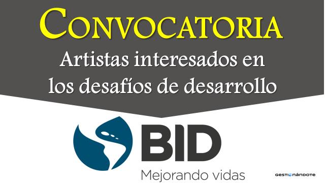 Concurso del BID para artistas en temas de desarrollo