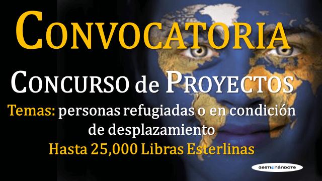 Convocatoria para proyectos que trabajan por personas refugiadas y desplazadas