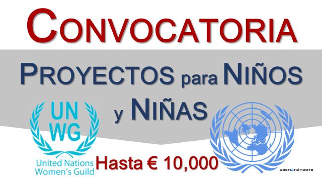 Naciones Unidas financia proyectos para niños y niñas en estado de vulnerabilidad
