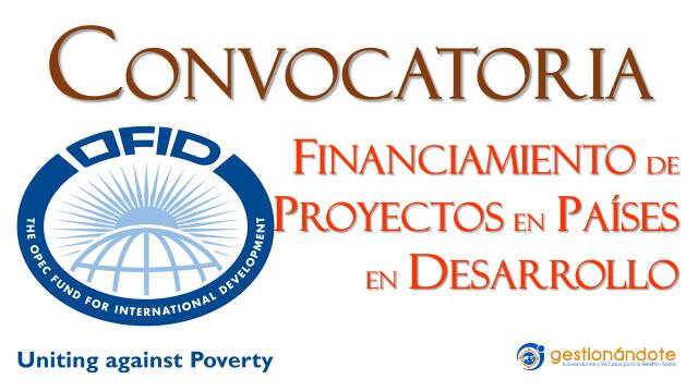Fondo OFID financia proyectos en países en desarrollo