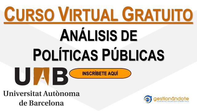 Curso gratuito en análisis de políticas públicas – Autónoma de Barcelona