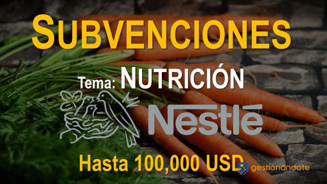 Fundación Nestlé ofrece subvenciones para nutrición