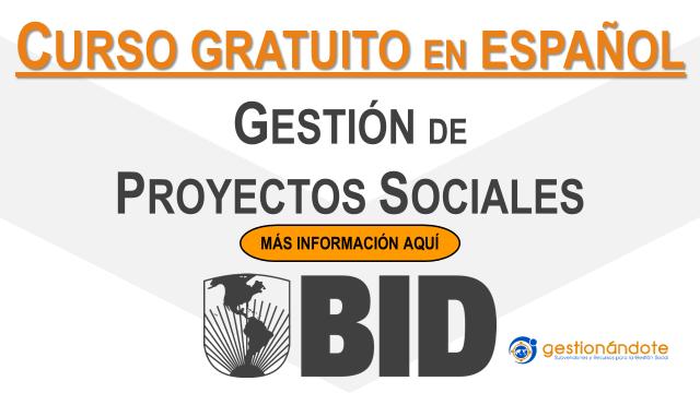 Curso del BID en gestión de proyectos sociales para ONG y OSC