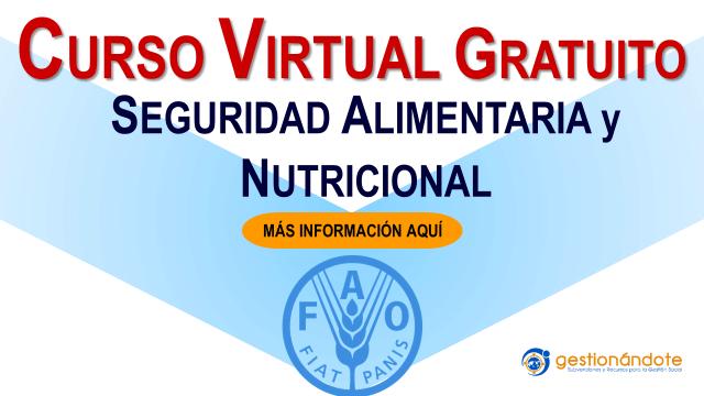 Curso virtual en español en seguridad alimentaria y nutricional de la FAO