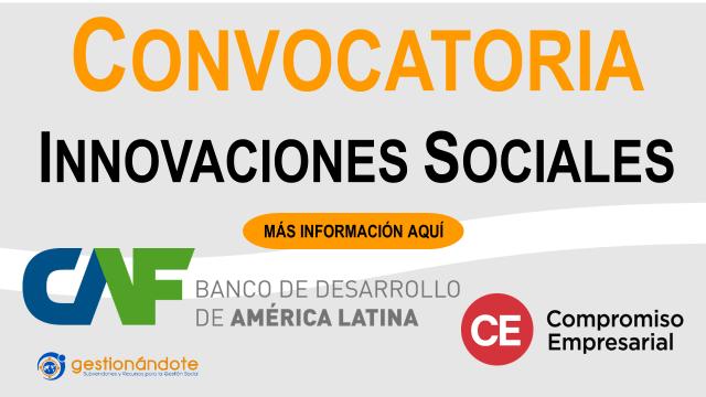 Convocatoria para innovaciones sociales en España y Latinoamérica