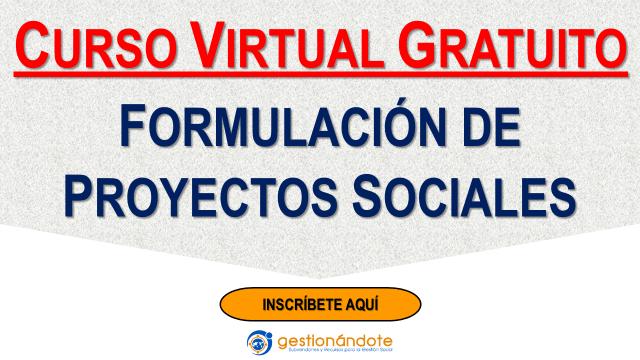 Formulación de Proyectos Sociales: Curso virtual gratuito