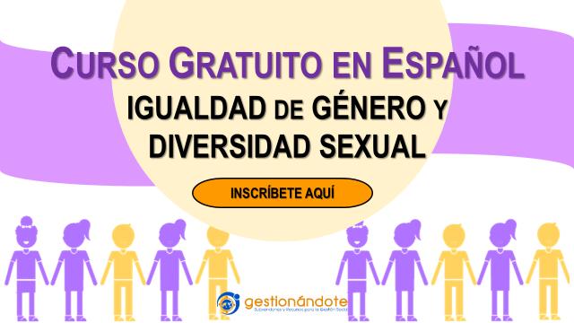 Curso certificado en igualdad de género y diversidad sexual