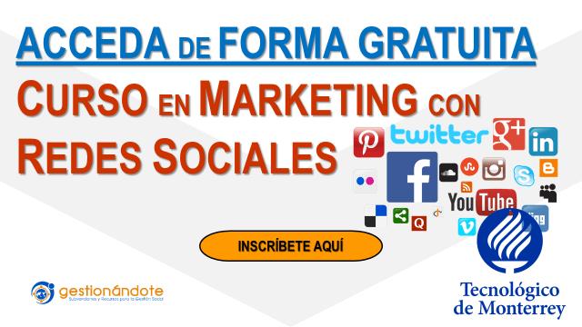 Cursos gratuitos del programa en marketing con redes sociales