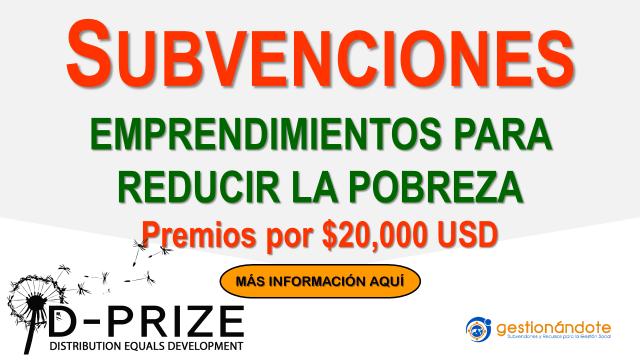 D-Prize: Subvenciones para emprendimientos sociales