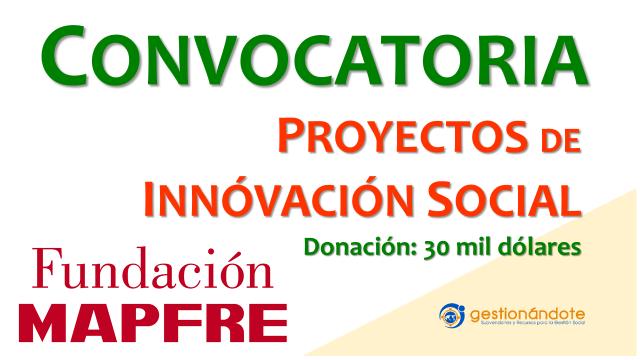 MAPFRE y OIJ lanzan concurso para proyectos de innovación social