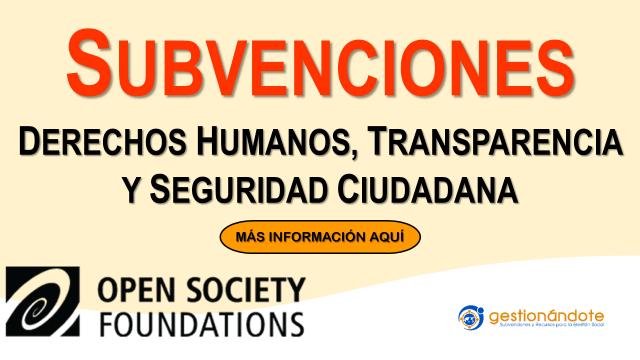 Subvenciones de Open Society Foundation en Latinoamérica