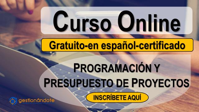 Curso certificado en programación y presupuesto de proyectos